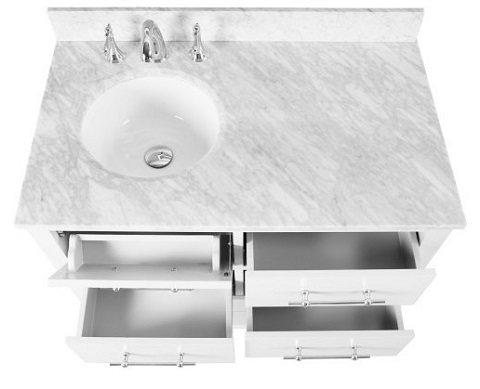 "Newberry 36"" Single Bathroom Vanity in White CABNEWWHI36S from Vanity by Design"