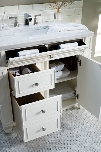 "Bristol 36"" Single Bathroom Vanity in Cottage White 157-V36-CWH from James Martin Furniture"