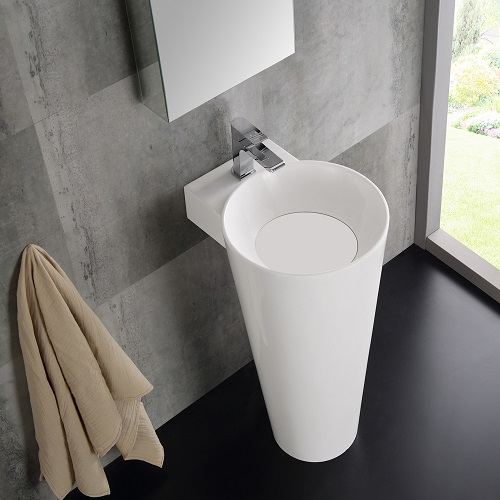 "Messina 16"" White Pedestal Sink FVN5022WH from Fresca"