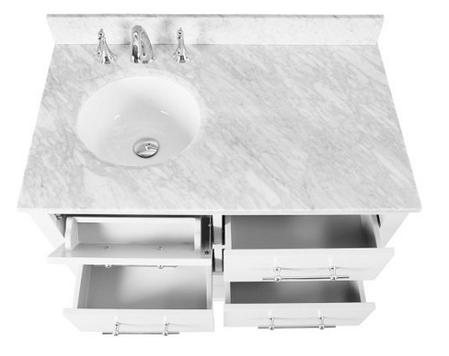 """Newberry 36"""" Single Bathroom Vanity in White CABNEWWHI36S from Vanity by Design"""