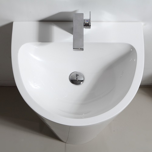 "Parma 24"" White Pedestal Sink FVN5023WH from Fresca"