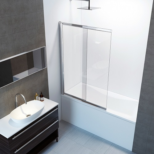 Amara Bath Screen Shower Enclosure BS-019-CHR from A&E