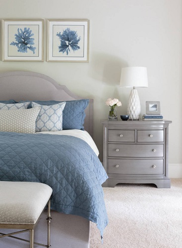 Half bedroom photos are a popular way of encapsuling a bedroom design, but don't always give a full impression of the room (by Marker Girl Home)