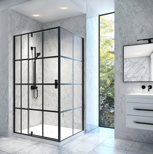 Taylor 48-RP Bath Screen Shower Enclosure SD-021-36x48-BLK from A&E