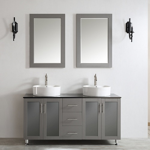 "Tuscany 60"" Double Bathroom Vanity in Grey 745060-BG from Vinnova"
