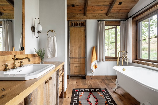Using wood in a bathroom has long been a design no-no for a reason, but there are a few new ways to get around the most common problems (by Miller-Roodell Architects Ltd)