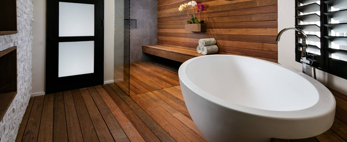 Wood In The Bathroom Everything You Need To Know About This Taboo Turned Trend