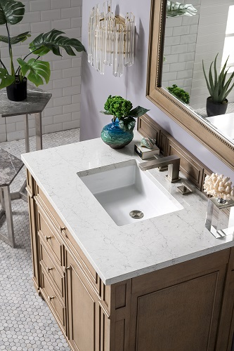 "Bristol 36"" Single Bathroom Vanity with 3cm Eternal Jasmine Pearl Quartz Top 157-V36-WW-3EJP from James Martin Furniture"