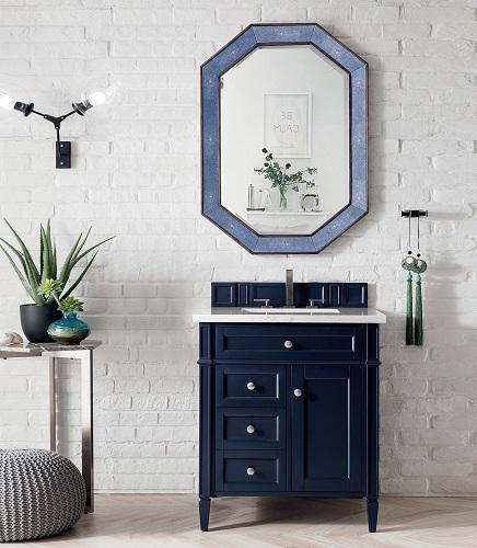 "Brittany 30"" Single Bathroom Vanity in Victory Blue 650-V30-VBL from James Martin Furniture"