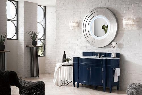 "Brittany 46"" Single Bathroom Vanity in Victory Blue 650-V46-VBL from James Martin Furniture"