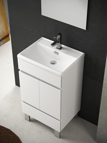 "Piscis 20"" White Bathroom Vanity with Integrated Porcelain Sink EVVN536-20WH from Eviva"