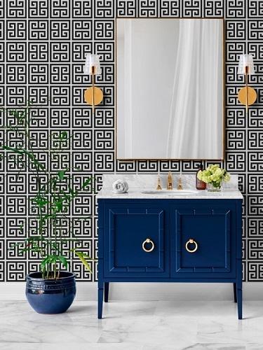 """Willow 36"""" Single Bathroom Vanity in Navy Blue CABWILBLU36S from Vanity by Design"""