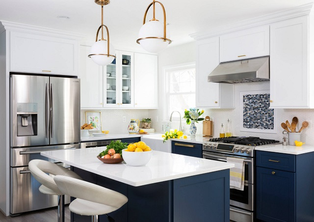 Simple shaker cabinets are slated to be the star of the show in kitchens long-term, but if you want a different look, opt for simpler and more streamlined to get the most life out of your upgrade (by Case Design/Remodeling )