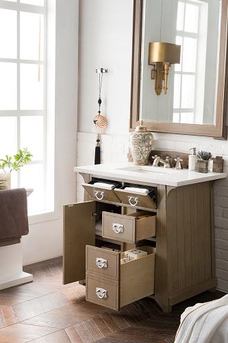 """Pasadena 36"""" Single Bathroom Vanity 250-V36-WTP from James Martin Furniture"""