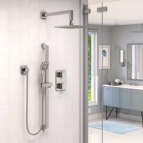 Hand showers work on their own or paired with another shower head, and can be raised, lowered, adjusted, or hand-held to get you (and your shower) as clean as possible