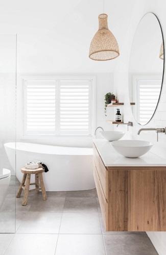Natural Wood Bathroom Vanity, Natural Wood Bathroom Vanity