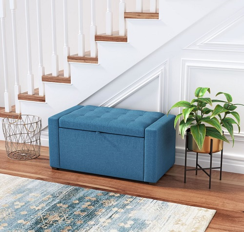 Anderson Bench in Blue 101211 from Zuo Modern