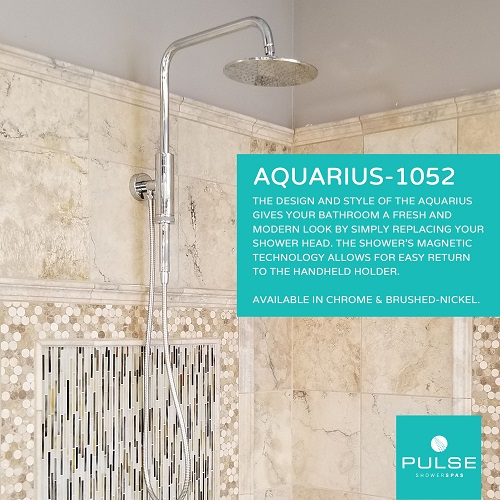 Aquarius Showerspa Shower System 1052-CH-1.8GPM in Chrome from Pulse