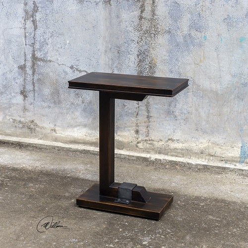 Deacon Industrial Accent Table 25805 from Uttermost