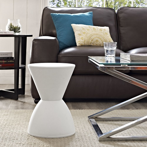 Haste Stool EEI-1699-WHI in White from Modway Furniture