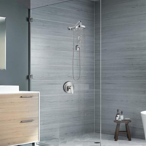 Oaisis Showerspa Shower System 1053-BN in Brushed Nickel from Pulse