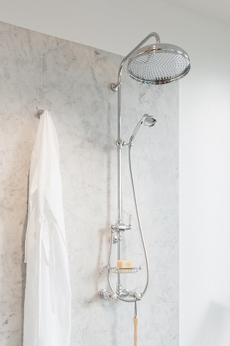 Perrin & Rowe Edwardian Thermostatic SHower Package in Polished NIckel U.KIT1NL-PN from Rohl