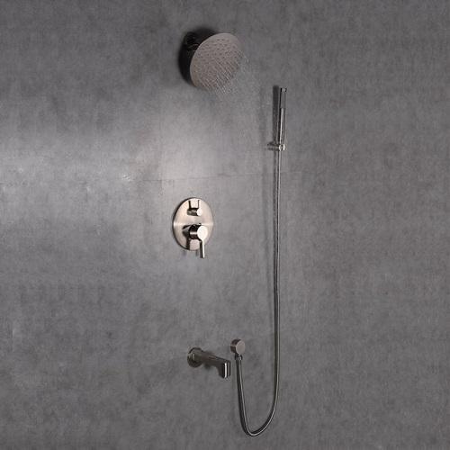 Splash Shower Set EVSH76BN with Hand Sprayer in Brushed Nickel from Eviva