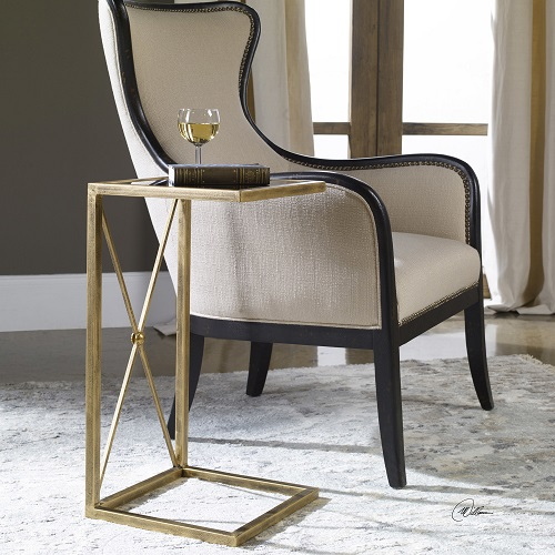 Zafina Gold Side Table 25014 from Uttermost