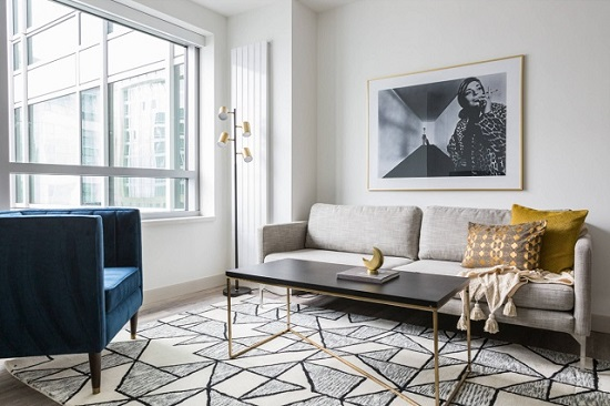 In a rental space, there's a lot about your decor that's out of your control - which is why it's doubly important to make the most of the pieces you can (by Sun Soul Style Interiors)