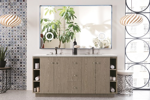 "Seaside 72"" Double Bathroom Vanity in Silver Apricot 960-V72-SAP from James Martin Furniture"