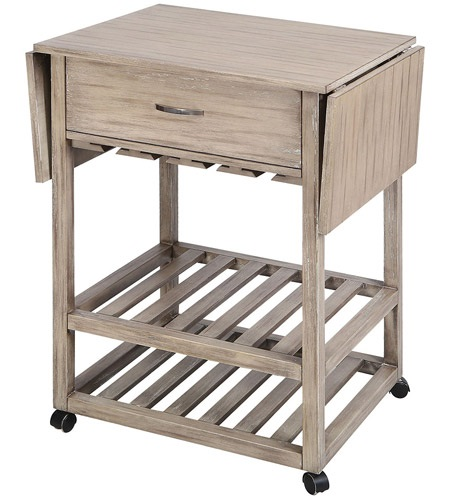 Tristan Grey Twilight Contemporary Mobile Serving Cart 75101 from Stein World