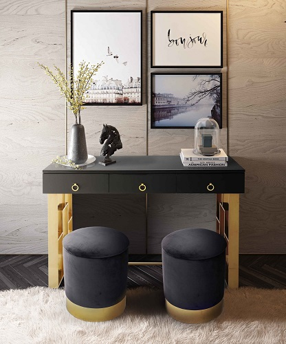 Audrey Grey Lacquer Desk TOV-H3740 from TOV Furniture
