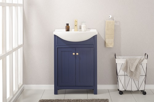 "Marian 24"" Single Sink Vanity in Blue S05-24-BLU from Design Element"