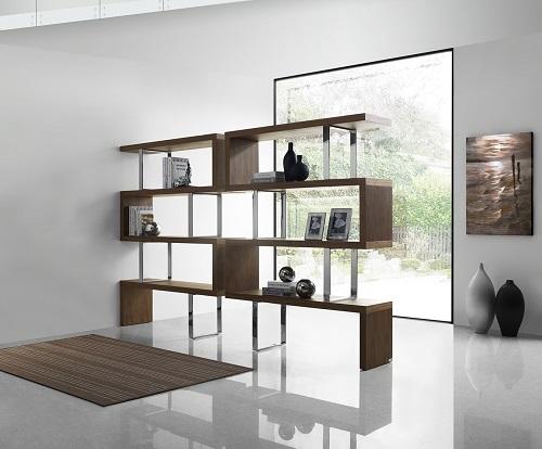 Scala Walnut Veneer Bookcase TC-0074-WAL by Casabianca