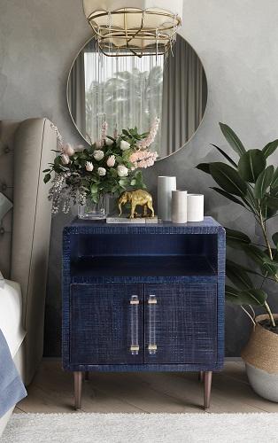 Marco Lacquer Indigo Side Table TOV-OC4108 from TOV Furniture