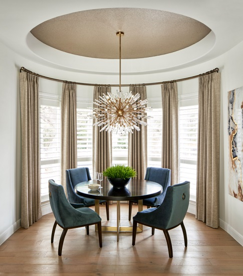 The size and shape of your dining table aren't what determines its style - it's how you accessorize (by Haven Design and Construction)