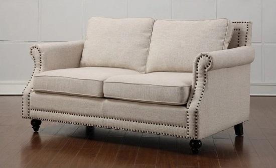 Camden Beige Linen Loveseat TOV-63801-2-Beige from TOV Furniture