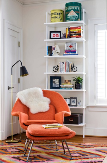 Comfort and style aren't mutually exclusive - so be sure to look for a reading chair that has both (by Gina Sims Designs)