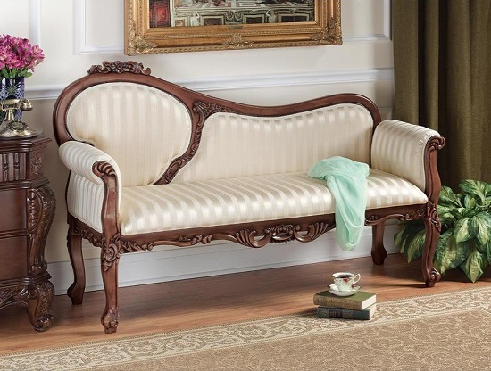 Lady Elizabeth Settee AE8002 from Toscano