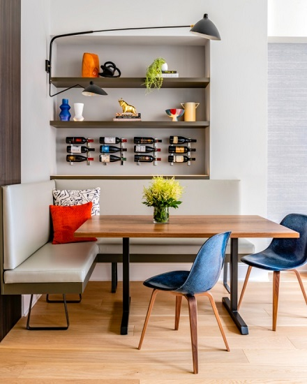 Building a beautiful banquette doesn't have to mean calling in a designer, contractor, and your financial guy - you just need to choose stylish, DIY-friendly components (Design by Renovation Planning & Interiors, photo by Keitaro Yoshioka Photography)