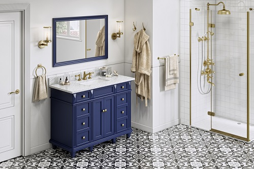 """Douglas 48"""" Hale Blue Vanity VKITDOU48BLWCR from Hardware Resources"""