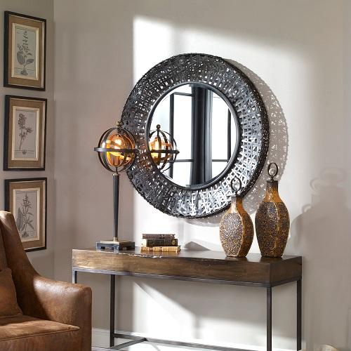 Alita Woven Metal Mirror 11587 B from Uttermost