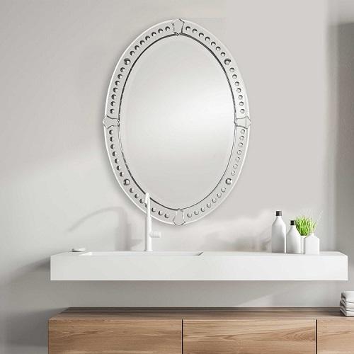 Graziano Frameless Oval Mirror 05003 B from Uttermost