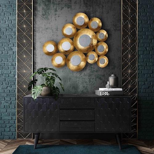 Vivid Gold Mirror CDF-18142 from Contemporary Design Furniture
