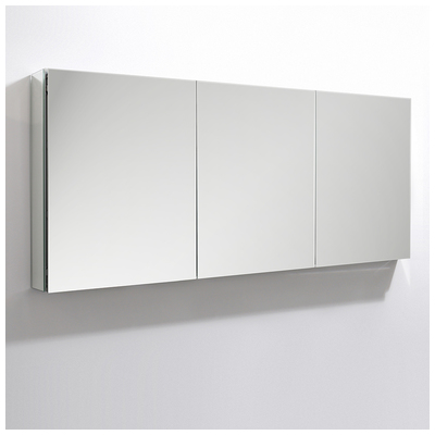 Fresca fmc8020 medicine cabinets fresca 60 wide x 36 tall bathroom medicine cabinet w mirrors for Fresca 60 wide bathroom medicine cabinet w mirrors